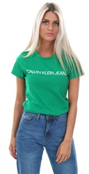 Calvin Klein Jolly Green Institutional Slim Logo T-Shirt