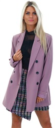 Vila Lilac Double Breast Vigin Blazer