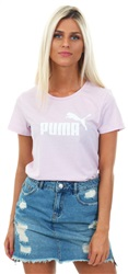 Puma Orchid Heather Essentials Printed Logo Tee
