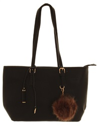 Superbia Black Pom Pom Bag