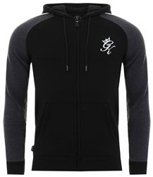 Gym King Black / Charcoal Marl Retro Tracksuit Top