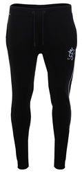 Gym King Black / Charcoal Marl Retro Tracksuit Bottoms