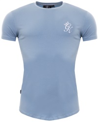 Gym King Fog Longline Fitted Curved Hem T-Shirt