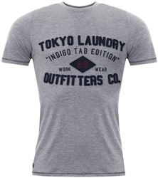 Tokyo Laundry Light Grey Marl Cotton T-Shirt