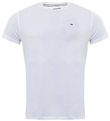 Classic White Organic Cotton T-Shirt by Tommy Jeans