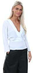 Cutie London White Wrap Over Top