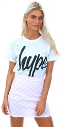 Hype White Black Script Splat T-Shirt