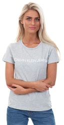 Calvin Klein Light Grey Heather Slim Logo T-Shirt