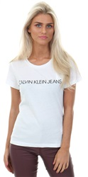 Calvin Klein Bright White Slim Logo T-Shirt
