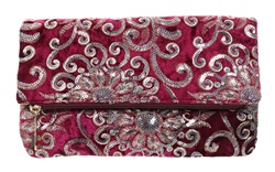 Koko Fuchsia Embellished Clutch Bag