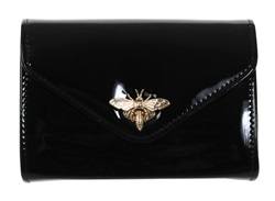 Koko Black Shinny Clutch Bag