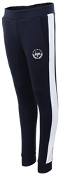 Hype Navy/White Colour Block Crest Track Joggers