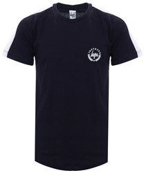 Hype Navy Colour Block Sleeve Crest Tee