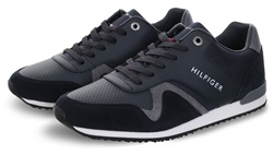 Hilfiger Denim Midnight Colour-Blocked Materiald Mix Trainer