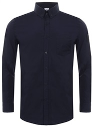 Hype Navy Insignia Long Sleeve Plain Shirt