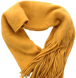 Pieces Nuggett Gold Long Fringe Scarf