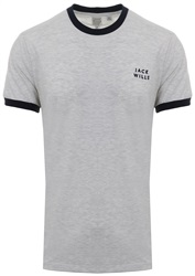 Jack Wills Light Ash Marl Sailsbury Ringer T-Shirt