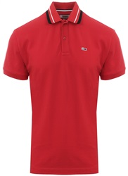 Hilfiger Denim Samba Red Classics Short Sleeve Polo Shirt