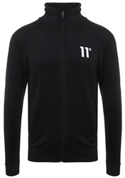 11degrees Black/White Zip Poly Panel Track Top Jacket