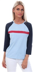 Jack Wills Navy/Blue Rowacres Raglan Top