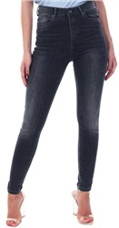 Dark Grey Denim High Waist Skinny Fit Jean by Veromoda