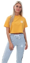 Siksilk Mustard Retro Box Crop Tee