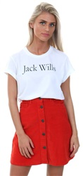 Jack Wills White Forstal Boyfriend T-Shirt