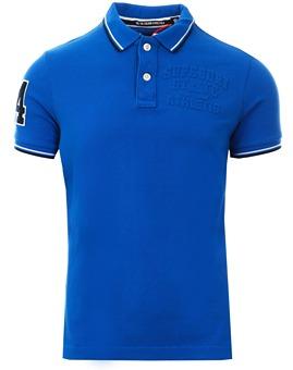 fe2e527022 Superdry Cobalt Classic Super Tri Polo Shirt