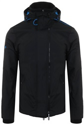 Superdry Black / Super Denby Pop Zip Arctic Hooded Sd-Windcheater Jacket