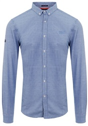 Superdry End On End Sky Premium Button Down Shirt