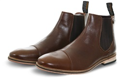 Superdry Brown Leather Premium Meteora Chelsea Boots