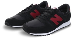 New Balance Black With Burgundy 420 Trainer