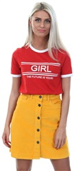 Daisy St Red Future Printed T-Shirt