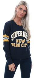 Superdry Navy College Sport Logo Knit Jumper
