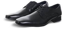 Escape Black Inst Lace Up Leather Shoe