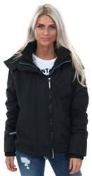 Superdry Black/Blue Mist Pop Zip Hooded Arctic Windcheater