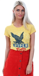 Superdry Golden Ochre Snowy Gasoline Printed T-Shirt