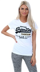 Superdry Optic Brushed Premium Goods Sport Entry T-Shirt