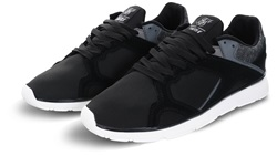 Siksilk Black Zonal Panel Lace Up Runner Trainer