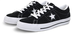 Converse Black/White (Womens) One Star Premium Suede
