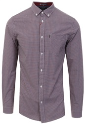 Le Shark Red / Blue Walsham Long Sleeve Check Shirt