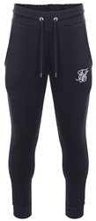 Siksilk Navy Muscle Fit Standard Cuffed Jogger