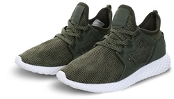 Certified Khaki/White Panel Lace Up Ct 1000 Runner
