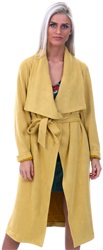 Lexie & Lola Mustard Waterfall Yellow Wrap Jacket