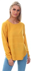 Only Golden Yellow Caviar Solid Knitted Pullover