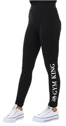 Gym King Black Gk Pintura Printed Leggings