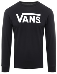 Vans Black/White Classic Long-Sleeve T-Shirt