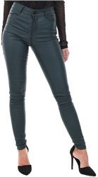 Vila Green Coated Skinny Fit Jean