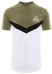 Bee Inspired Khaki/Black/White Ceasar Short Sleeve Panel Tee