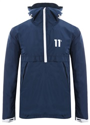 11degrees Navy Insignia - Waterproof Hurricane Jacket